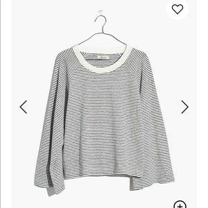 MADEWELL Terry Reglan Sweatshirt in Stripe